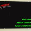 Black magnetic Glass Board with notes