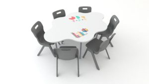 Buddy Whiteboard Hex Table | Collaborative Furniture | Class Furniture NZ