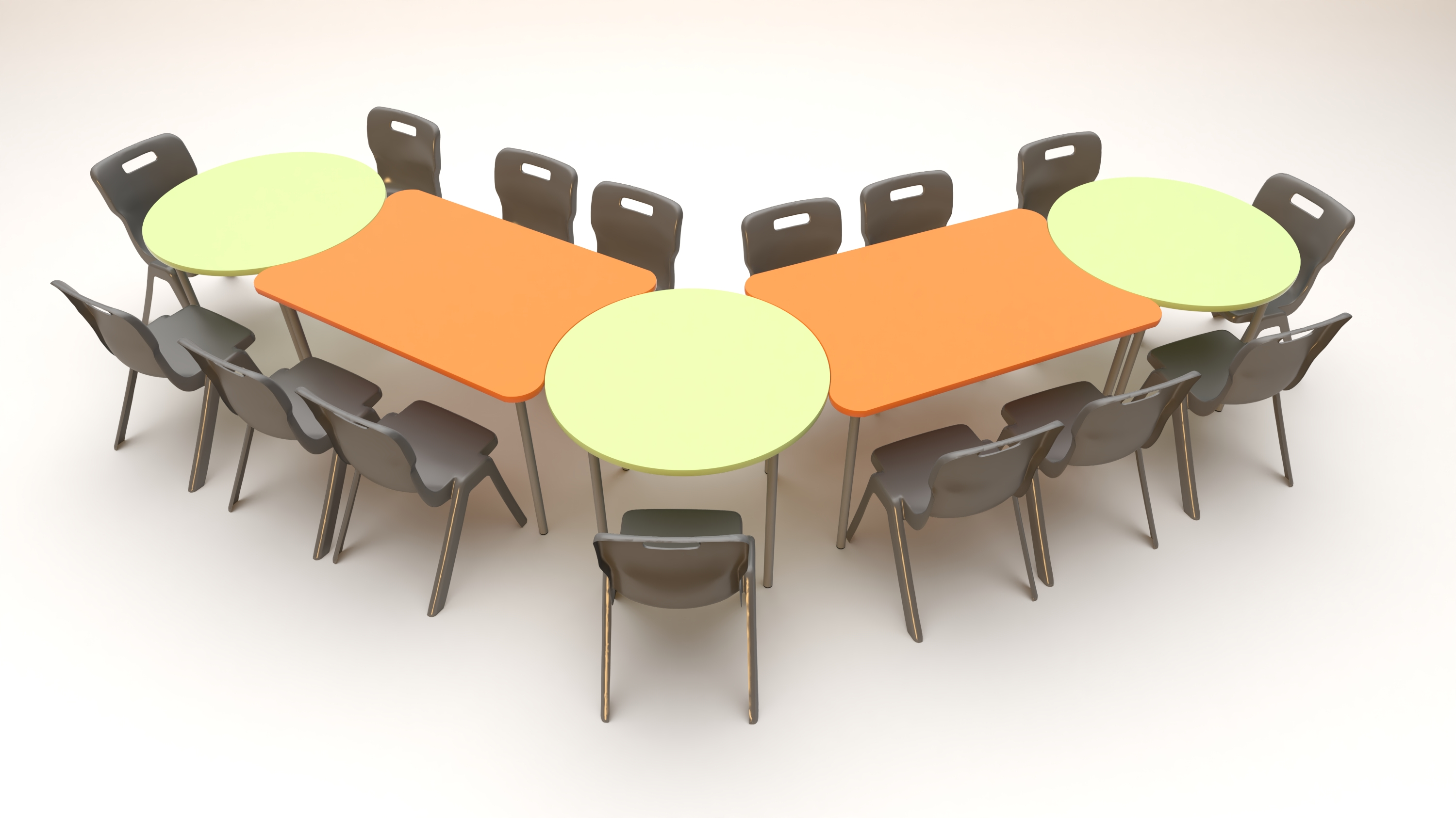 Buddy Concave Round Tables Class Furniture Solutions