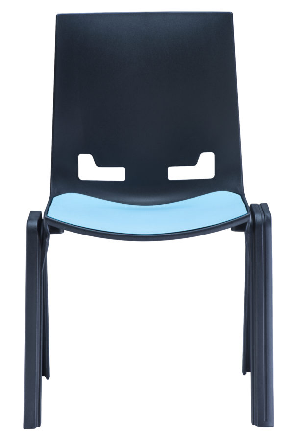 Zone-Linking-Chair-Black-Blue